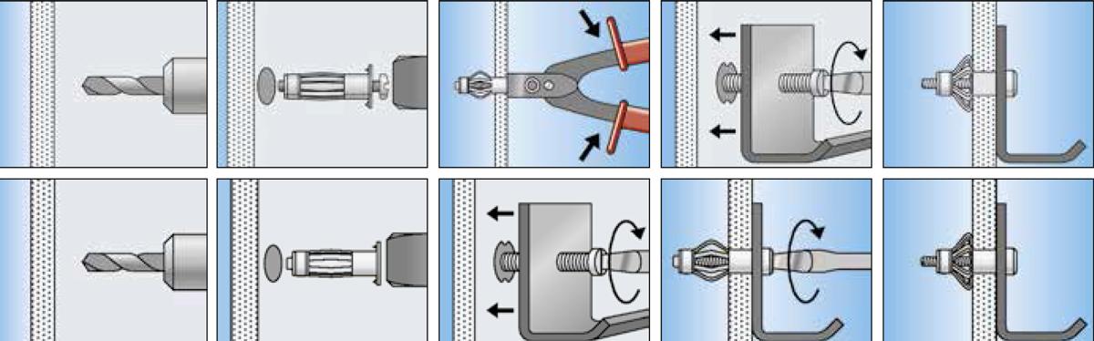 Tasselli metallici per lastre e pannelli fischer HM