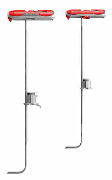 Fissaggio basculante in nylon fischer Duotec
